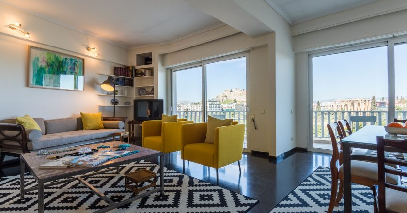 Acropolis view apartment